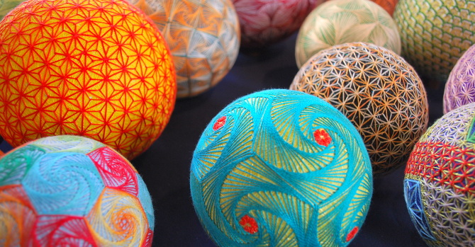 Hand-Crafted Geometric Spheres Made By 93-Year-Old Grandmother